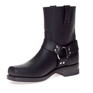 Frye Harness Boots Black Leather Ankle 9.5D